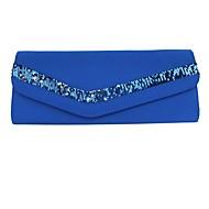 baratos Clutches & Bolsas de Noite-Mulheres Bolsas Poliéster Bolsa de Pulso 2 Pcs Purse Set Bordado Vermelho Escuro / Roxo / Amêndoa