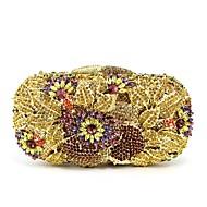 baratos Clutches & Bolsas de Noite-Mulheres Bolsas vidro Bolsa de Festa 5 Pcs Purse Set Flor Azul / Dourado