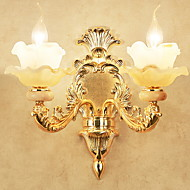 billige Vanity-lamper-Krystall Rustikk / Hytte Vegglamper / Baderomsbelysning Stue / Soverom / Baderom Metall Vegglampe 220-240V 20W
