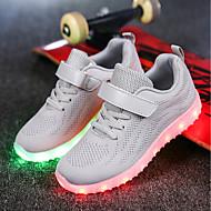 baratos Sapatos de Menino-Para Meninos / Para Meninas Sapatos Tricô / Arrastão Primavera / Outono Conforto / Tênis com LED Tênis Caminhada Cadarço / Colchete / LED