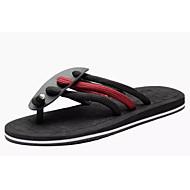 Hombre Zapatos PU Verano Zapatillas y flip-flops Paseo Rojo / Caqui / Azul Real nzZ5Cs