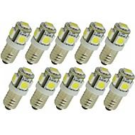 billige Bi-pin lamper med LED-SENCART 10pcs 1.5 W 90 lm G4 E11 LED-lamper med G-sokkel T 5 leds SMD 5050 Dekorativ Varm hvit Hvit Grønn Gul Blå Rød DC 12V