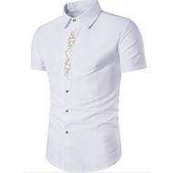 Majica Muškarci, Jednostavan Dnevno Geometrijski oblici Kratkih rukava Kragna košulje Ljeto Poliester