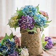 billige Kunstig Blomst-Kunstige blomster 1 Afdeling Rustikt / Brudebuketter Hortensiaer Bordblomst