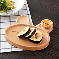cheap Dinnerware-1 pc Beech Wood High Quality Creative Tray Dinner Plate, Dinnerware