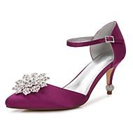 baratos Sapatos Femininos-Mulheres Sapatos Cetim Primavera / Verão Conforto / D'Orsay / Plataforma Básica Sapatos De Casamento Salto Sabrina Dedo Apontado