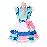 cheap Anime Cosplay-Inspired by Love Live Other Anime Cosplay Costumes Cosplay Suits Other Sleeveless Dress Socks Bow More Accessories Tie Hat For Men's