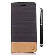 billiga Mobil cases & Skärmskydd-fodral Till Huawei Honor 8 Korthållare Plånbok med stativ Lucka Fodral Ensfärgat Hårt PU läder för Honor 8 Huawei Honor 5X Honor 5A