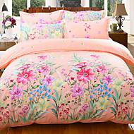 billige Blomstrete dynetrekk-Sengesett Blomstret Polyester / Bomull / 100% bomull Trykket 4 deler