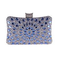 Mulheres Bolsas Poliéster Bolsa de Festa Detalhes em Cristal Azul / Dourado / Prata