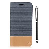 billiga Mobil cases & Skärmskydd-fodral Till LG G6 Korthållare Plånbok med stativ Lucka Fodral Ensfärgat Hårt PU läder för LG G6 LG G5 LG G4