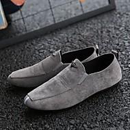tanie Obuwie męskie-Męskie Komfortowe buty Polar Wiosna / Jesień Mokasyny i buty wsuwane Czarny / Ciemno szary / Czerwony