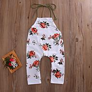 Bebek Genç Kız Boho / Sokak Şıklığı Tatil / Dışarı Çıkma Çiçekli Arkasız / Sanatsal Tarz / Çiçek Kolsuz Polyester Tulumlar Bej / Toddler