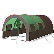 Hewolf 10 テント ダブル キャンプテント 3つのルーム 家族用テント アンチスリップ 防風 耐久性 モイスチャーコントロール 通気性 ライトウェイト のために 釣り キャンプ/ハイキング/ケイビング トレッキング 旅行 1000-1500 mm テリレン -