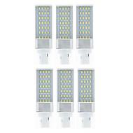baratos Luzes LED de Dois Pinos-SENCART 6pcs 9W 750-850lm G24 Luminárias de LED  Duplo-Pin 28 Contas LED SMD 5630 Decorativa Branco Quente / Branco 85-265V