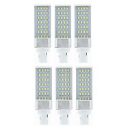 billige Bi-pin lamper med LED-SENCART 6pcs 9W 750-850lm G24 LED-lamper med G-sokkel 28 LED perler SMD 5630 Dekorativ Varm hvit / Hvit 85-265V