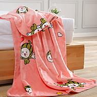 cheap Blankets & Throws-Coral fleece, Reactive Print Cartoon Cotton/Polyester Polyester Blankets