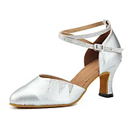 baratos Sapatilhas de Dança-Mulheres Sapatos de Dança Moderna Gliter / Courino Sandália / Salto Recortes Salto Personalizado Personalizável Sapatos de Dança Prata