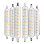 billige Kornpærer med LED-YWXLIGHT® 6pcs 12W 1000-1200lm R7S LED-kornpærer 108 LED perler SMD 2835 Dekorativ Varm hvit 220-240V