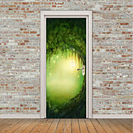 cheap Wall Stickers-Landscape Floral/Botanical Wall Stickers Plane Wall Stickers 3D Wall Stickers Decorative Wall Stickers Door Stickers, Vinyl Home