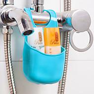 رخيصةأون -خطاف متعددة الوظائف سهلة الاستخدام حداثة مخزن قابل للنقل إبداعي أساسي بلاستيك PVC حمام منظمة اكسسوارات الحمام الأخرى دش الملحقات