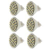 billige Spotlys med LED-SENCART 6pcs 2W 140-180 lm MR11 LED-spotpærer MR11 30 leds SMD 3528 Dekorativ Varm hvit Kjølig hvit Gul DC 12V