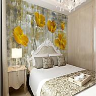 billige Tapet-Blomstret Art Deco 3D Hjem Dekor Klassisk Vintage Tapetsering, Lerret Materiale selvklebende nødvendig Veggmaleri, Tapet