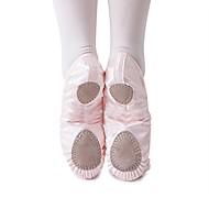 billige Kustomiserte dansesko-Ballettsko Silke Flate Flat hæl Kan spesialtilpasses Dansesko Beige / Blå / Trening