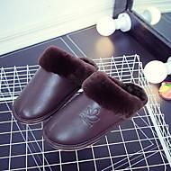 tanie Pantofle-Zwyczajny Pantofle Pantofle damskie Poliester PU Jeden kolor