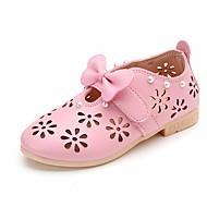 tanie Obuwie dziewczęce-Dla dziewczynek Buty Syntetyczny Microfiber PU Wiosna Jesień Buty dla małych druhen Mokasyny i pantofle na Casual White Green Różowy