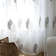 baratos Cortinas Transparentes-Sheer Curtains Shades Quarto Floral Algodão / Poliéster Jacquard
