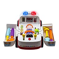2-in-1 Ambulance Doctor Vehicle Set Игрушечные машинки Машина скорой помощи Транспорт Взаимодействие родителей и детей Высококачественный пластик ABS Детские Мальчики Девочки Игрушки Подарок