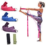 Yoga-Riemen Baumwolle Dick Langlebig Verstellbare D-Ringschnalle Physiotherapie Stretching Physiotherapeuten Pilates Übung & Fitness Fitnesstraining Zum