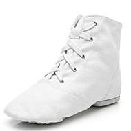 billige Jazz-sko-Herre Jazz-sko Lerret Flate / Joggesko Tvinning Flat hæl Kan spesialtilpasses Dansesko Hvit / Innendørs