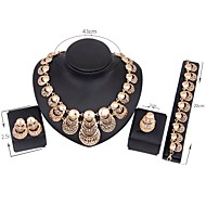 Women's Jewelry Set Gold Plated Vintage, Fashion Include Bridal Jewelry Sets Gold For Wedding Party