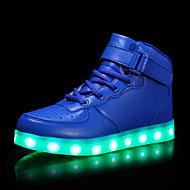 tanie Obuwie dziewczęce-Dla dziewczynek Dla chłopców Buty Syntetyczny Microfiber PU PU Jesień Zima Świecące buty Comfort Buciki Bieganie LED Haczyk i pętelka na
