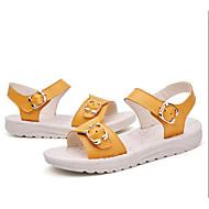 tanie Obuwie dziewczęce-Dla dziewczynek Obuwie Skórzany Lato Wygoda Sandały na Żółty / Niebieski / Różowy
