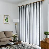 billige Gardiner ogdraperinger-Gardiner Skygge Stue Stribe Moderne Bomull / Polyester Trykket