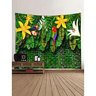 tanie Dekoracje ścienne-Motyw ogrodowy / Zwierzę Dekoracja ścienna 100% poliester Nowoczesny Wall Art, Ścienne Gobeliny Dekoracja