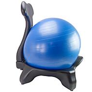 preiswerte Pilates-2pcs Fitnessball Stuhl mit Sitzball Yoga Für den täglichen Einsatz PVC Plástico PE 55cm Stabilität Ergonomisch Auf Rädern