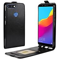 billiga Mobil cases & Skärmskydd-fodral Till Huawei Y9 (2018)(Enjoy 8 Plus) Y7 Prime (2018) Korthållare Lucka Fodral Enfärgad Hårt PU läder för Y9 (2018)(Enjoy 8 Plus) Y7
