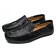 tanie Obuwie męskie-Męskie Buty PU Wiosna Jesień Mokasyny Comfort Mokasyny i pantofle na Casual White Black