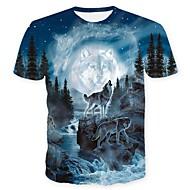 Χαμηλού Κόστους -Ανδρικά T-shirt Κρανίο Βασικό Ζώο Στάμπα Λύκος