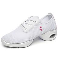 billige Moderne sko-Dame Moderne sko Lerret / Tyll / PP (Polypropen) Høye hæler Flat hæl Kan spesialtilpasses Dansesko Hvit / Svart / Rød