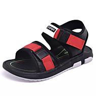 tanie Obuwie chłopięce-Dla chłopców Buty Skóra Lato Comfort Sandały Tasiemka na Casual Black/Red Black/Green