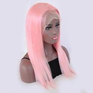 Remy kosa Perika Brazilska kosa Ravan kroj 130% Gustoća S dječjom kosom S bijelim čvorovima Prirodna linija za kosu Pink Kratko Dug Žene