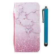 billiga Mobil cases & Skärmskydd-fodral Till Motorola G5 Plus Korthållare Plånbok med stativ Lucka Magnet Fodral Marmor Hårt PU läder för Moto G5s Plus Moto G5s