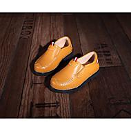 tanie Obuwie dziewczęce-Dla dziewczynek Dla chłopców Buty Skórzany Wiosna Jesień Comfort Mokasyny i pantofle na Casual White Black Yellow