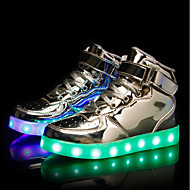tanie Obuwie chłopięce-Dla chłopców / Dla dziewczynek Obuwie PU Wiosna Świecące buty Adidasy LED na Biały / Czarny / Srebrny