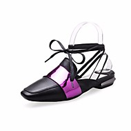 baratos Sapatos Femininos-Mulheres Sapatos Pele Primavera / Outono Conforto Rasos Salto Baixo Dourado / Azul Escuro / Fúcsia